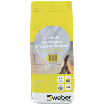Weber finish protect 3 voegmiddel licht grijs 4kg