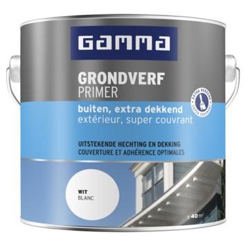 GAMMA grondverf buiten extra dekkend 2,5 liter wit