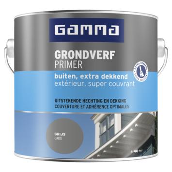 GAMMA grondverf buiten extra dekkend 2,5 liter grijs