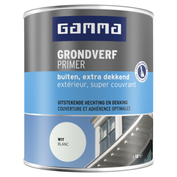 GAMMA grondverf buiten extra dekkend 750 ml wit