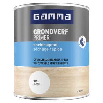 GAMMA grondverf sneldrogend mat 750 ml wit