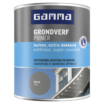 GAMMA grondverf buiten extra dekkend 750 ml grijs