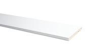 Plint model recht hoogglans wit 75x14 mm, 240 cm