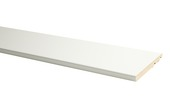 Plint model recht hoogglans wit 120x14 mm, 240 cm