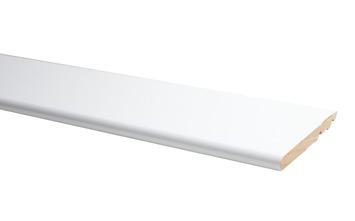 Plint Model Rond Hoogglans Wit 1,4 x 12 x 240 cm