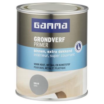 GAMMA grondverf binnen extra dekkend 750 ml grijs