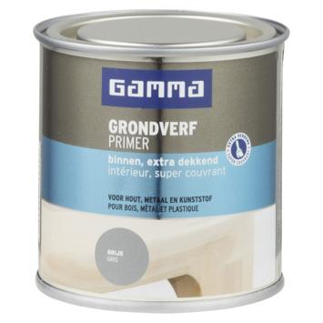 GAMMA grondverf binnen extra dekkend 250 ml grijs