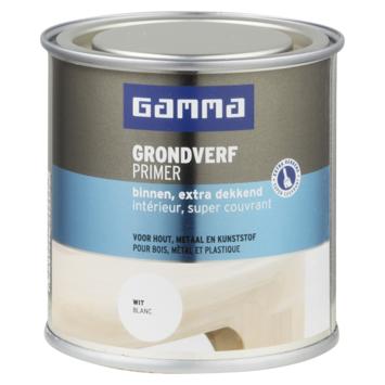 GAMMA grondverf binnen extra dekkend 250 ml wit