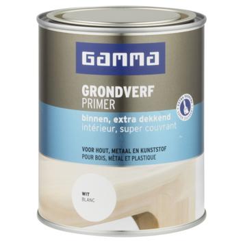 GAMMA grondverf binnen extra dekkend 750 ml wit