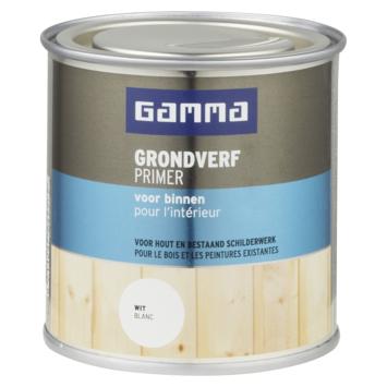 GAMMA grondverf voor binnen 250 ml wit