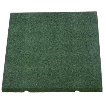 Rubber tegel Groen 40x40x2,5 cm