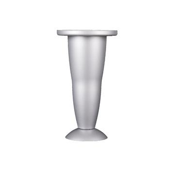 Duraline meubelpoot verstelbaar kunststof aluminium 128-138 mm