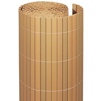 Balkonscherm pvc Teak 90X300 cm