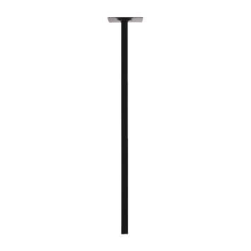 Duraline Tafelpoot vierkant zwart Ø 25 mm 75 cm