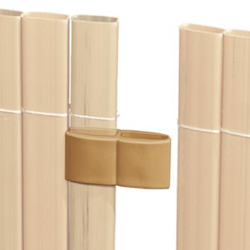 Verbinder teak voor balkonscherm 4 stuks