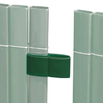 Verbinder groen voor balkonscherm 4 stuks