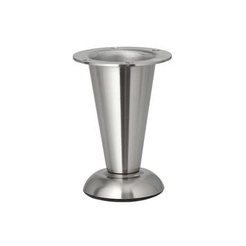 Duraline meubelpoot rond mat nikkel verstelbaar 103-113 mm