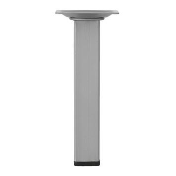 Duraline meubelpoot vierkant zilvergrijs 25x25 mm 15 cm