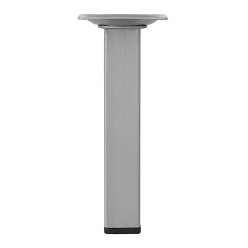 Inspirations meubelpoot vierkant zilvergrijs Ø 25 mm 15 cm