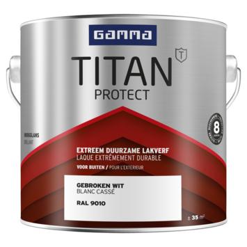 GAMMA Titan buitenlak hoogglans 2,5 liter gebroken wit