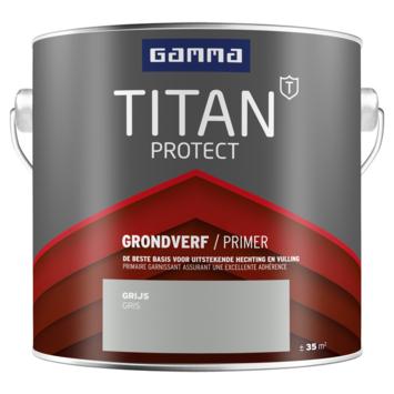 GAMMA Titan buitenlak grondverf 2,5 liter grijs