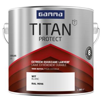 GAMMA Titan buitenlak zijdeglans 2,5 liter  wit RAL 9016