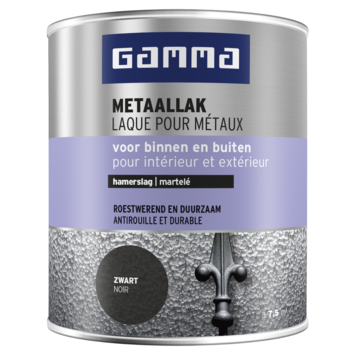 GAMMA metaallak hamerslag 750 ml zwart