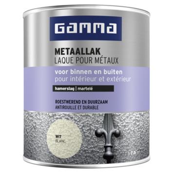 GAMMA metaallak hamerslag 750 ml 796 wit