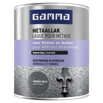GAMMA metaallak hamerslag 750 ml donkergrijs