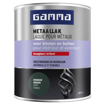 GAMMA Metaallak hoogglans 750 ml zwartgroen