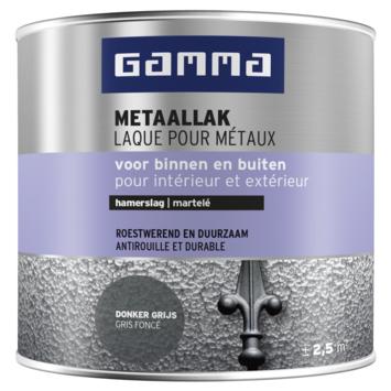 GAMMA metaallak hamerslag 250 ml donker grijs