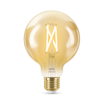 WiZ Connected LED globe E27 50W filament gold koel tot warmwit licht dimbaar