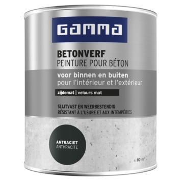 GAMMA betonverf zijdemat zwartgrijs 750 ml