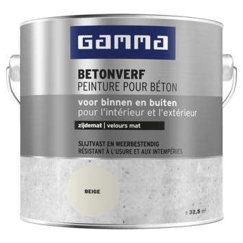 GAMMA betonverf zijdemat parelwit 2,5 liter