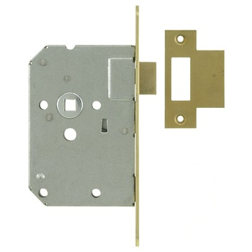 NEMEF 1200 serie insteekslot loopslot met messing voorplaat Doorn 50mm