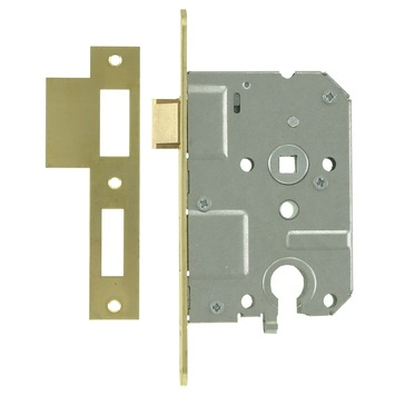 NEMEF 1200 serie insteekslot cilinderslot met messing voorplaat Doorn 50mm PC 55mm