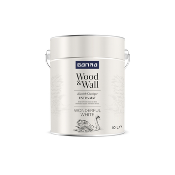 GAMMA Wood&Wall krijtverf Wonderful White 10 liter