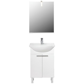 GAMMA | Amy badkamermeubel hoogglans wit 55 cm kopen ...