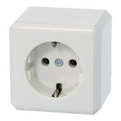 Schneider Electric opbouw geaard stopcontact enkel wit
