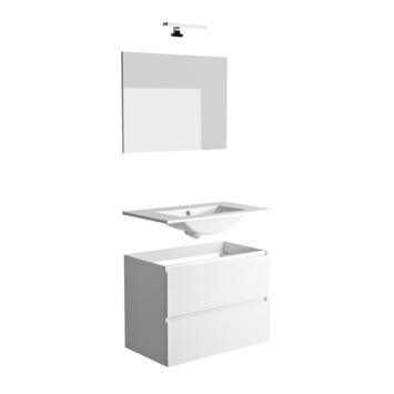Allibert badmeubelset Roma 80cm glanzend wit met spiegel en verlichting