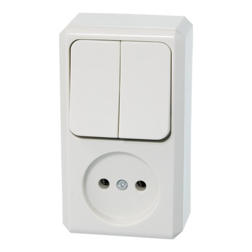Schneider Electric combinatieschakelaar 2x1polig wit