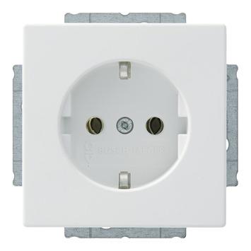 Busch-Jaeger Future Linear Stopcontact Enkel RA Mat Wit