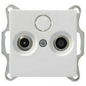 Schneider Electric System coax contactdoos wit