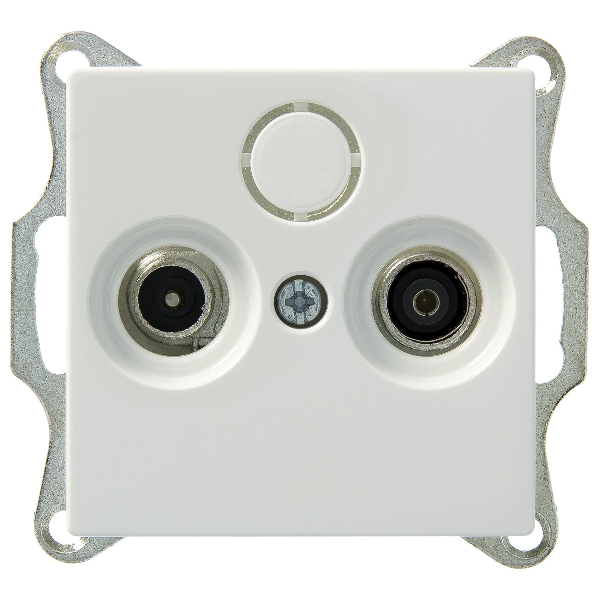 Merten System M contactdoos inbouw coax in blister wit