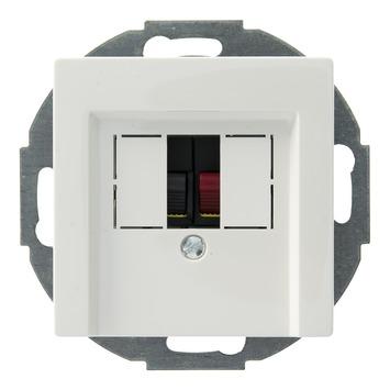 Schneider Electric System contactdoos luidspreker wit