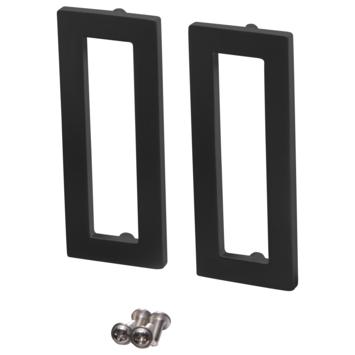 Storemax schuifdeur handgreep recht vierkant zwart