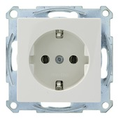 Schneider Electric System enkel geaard stopcontact wit