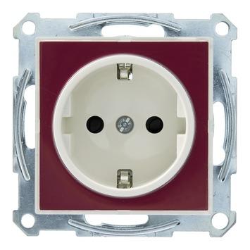 Schneider Electric System M-creative enkel geaard stopcontact transparant