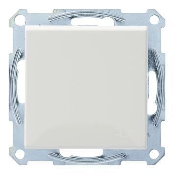 Schneider Electric System stopcontact met afdekplaat randaarde wit