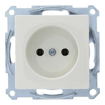 Schneider Electric System enkel stopcontact wit